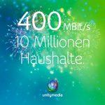 Unitymedia: 400 Mbit/s nun im gesamten Versorgungsgebiet verfügbar