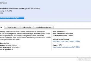 KB3197954 hebt die  Windows 10 auf die Build 14393.351 und KB3199986 (manueller Download)