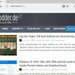 Lösung: Microsoft Edge stürzt ab in der Windows 10 14942