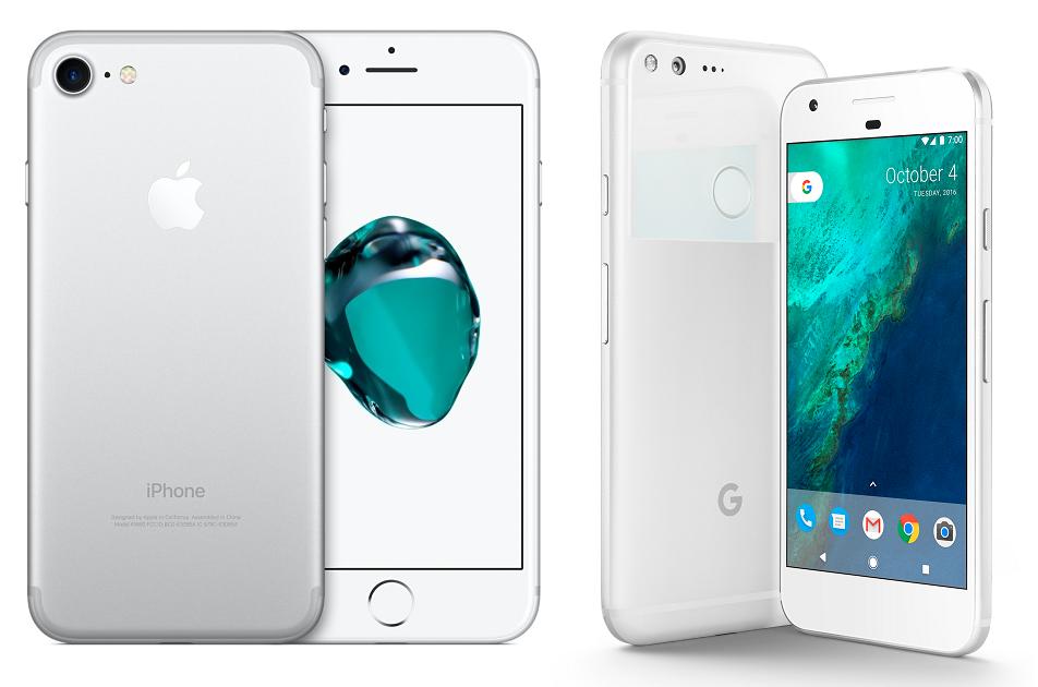 Google Pixel vs Apple iPhone