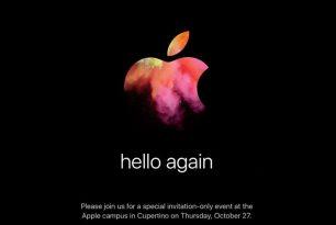 Apple kündigt Event für den 27. Oktober an