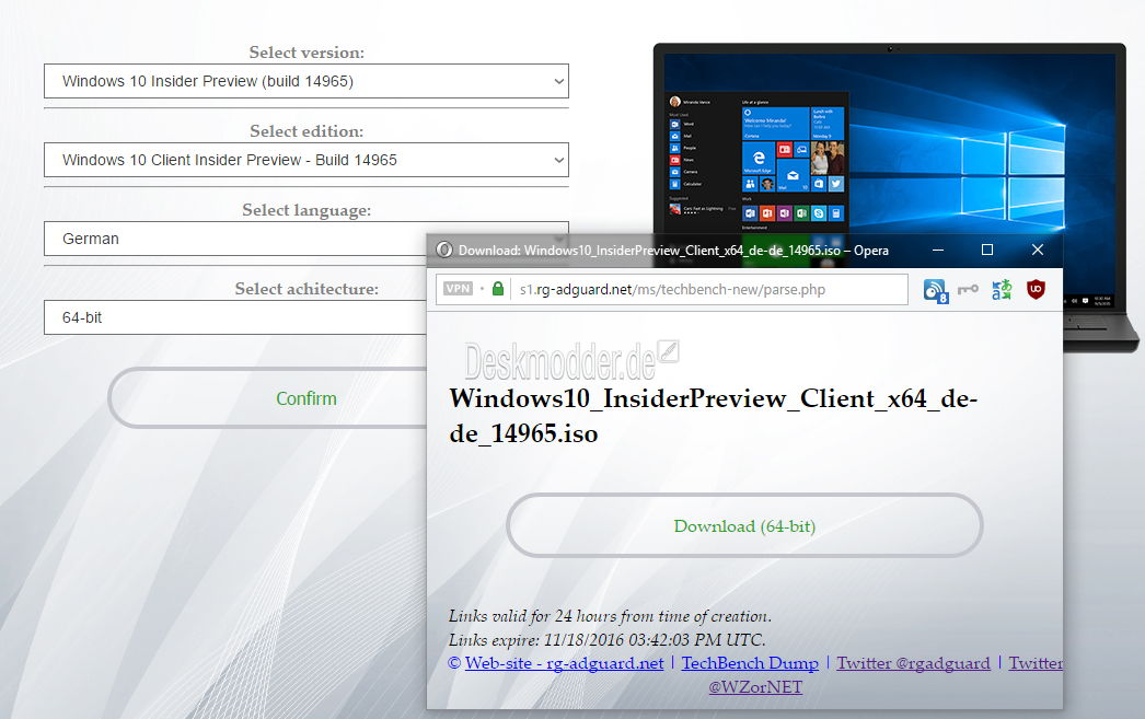 Windows  Pro Insider Preview Build  Iso Download German