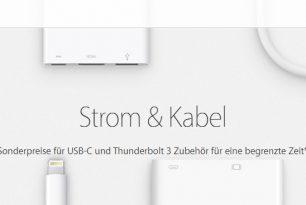 Apple – Adapter für USB-C und Thunderbolt 3 bis Silvester reduziert