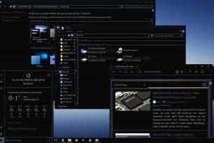 Windows 10: Dunkles Theme, dunkler Datei Explorer, alles dunkel