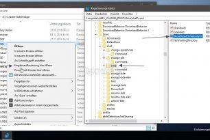 Eingabeaufforderung wieder im Kontextmenü der Windows 10 Creators Update anzeigen