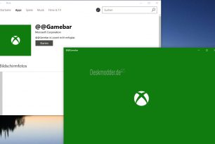 Gamebar als App in der Windows 10 14986