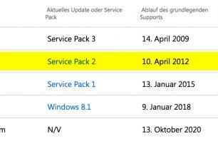 Erinnerung: Erweiterter Support für Windows Vista endet nächsten Monat