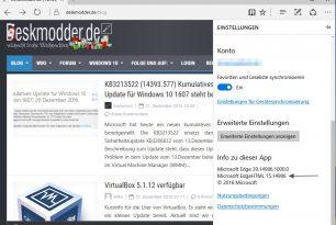 Brotli-Komprimierung im Microsoft Edge ist in der 14986  nun aktiviert