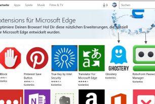Microsoft Edge: Neue Erweiterungen und Adobe Flash Player wird bald blockiert