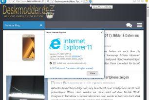 Windows 10 14997 – Auch der Internet Explorer 11 mit einer Änderung