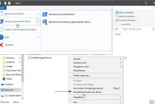 PowerShell nun auch im Kontextmenü der Windows 10 Creators Update