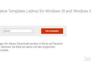 Administrative Templates 2.0 (.admx) für Windows 10 und Server 2016 stehen zum Download bereit