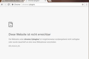 Google Chrome: Plugins nicht mehr erreichbar