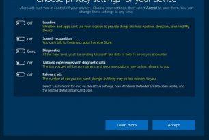 Neue Datenschutzeinstellungen in der Windows 10 Creators Update gehen auch auf das Konto der FDPIC-Untersuchungen