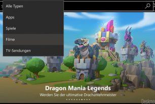 Windows Store App jetzt mit einer Such-Auswahl