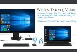 """Drahtlose """"Docking"""" Vision von Microsoft"""