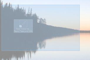 Screenshot Ausschnitt nun mit Windows-Taste + Umschalt (Shift) + S in der Creators Update möglich