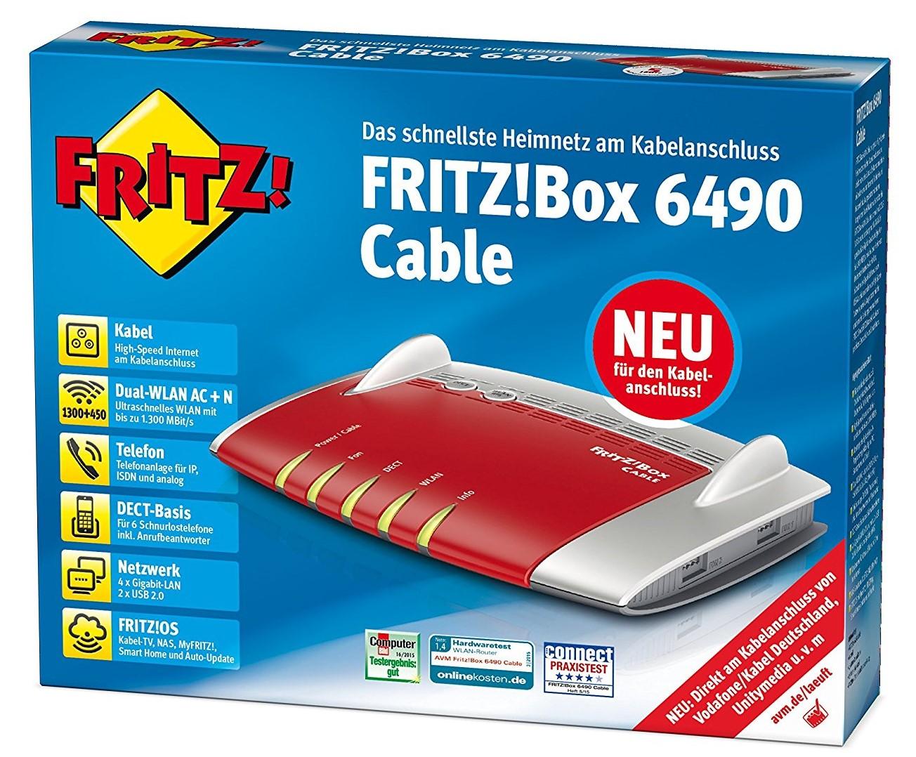 Endgeratefreiheit Fritz Box 6490 Cable Im Test Deskmodder De