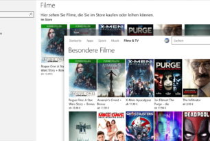 Filme & TV App unterstützt 360-Grad-Videos in der Windows 10 1703