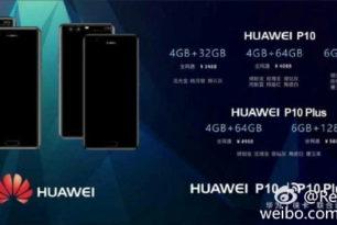 Huawei P10 und Huawei P10 Plus – Preise sind durchgesickert