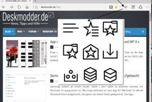 Microsoft Edge mit verschiedenen Icons in der Menüleiste? (Insider)