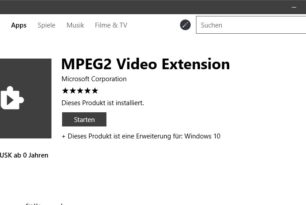 MPEG2 Video Extension  MPEG 1 und MPEG 2 Video Codecs per App nachinstallieren – Windows 10