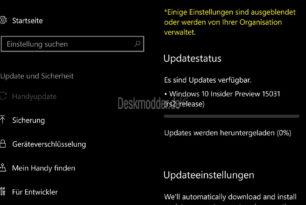 Windows 10 Mobile 15031 steht nun auch bereit