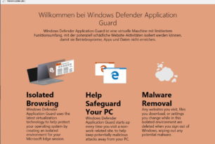 Windows Defender Application Guard im Microsoft Edge schon integriert? (Insider)