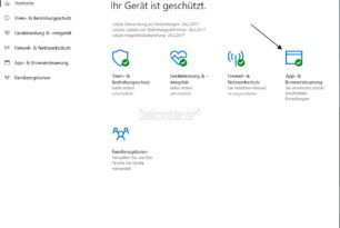Windows Defender Security Center wurde erweitert