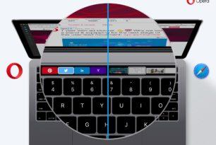 Opera – Neue Version 44 für macOS unterstützt die Touch Bar