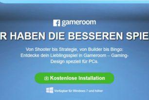 Facebook versucht Gameroom zu bewerben