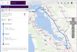 Karten App mit Zwischenstopp Windows 10 und Mobile