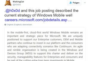 Microsoft sucht zwei Programm Manager für das Windows Mobile Team