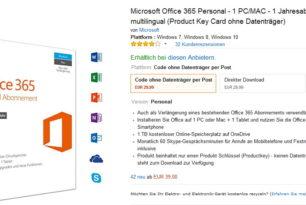 Office 365 für 33 Euro auf Amazon