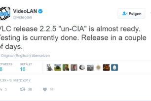 """VLC 2.2.5 wird auch """"CIA-Abhörsicher"""""""