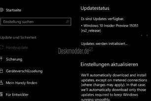 Windows 10 Mobile 15051 im Slow Ring