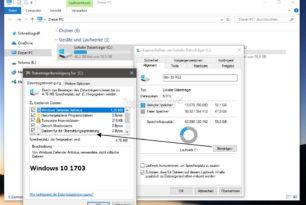 Windows 10 1703 (15063) Datenträgerbereinigung wurde vereinfacht