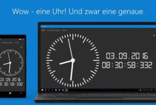 App des Tages: AtomUhr für Windows 10 und Mobile bis runter zu Windows 8 und Phone