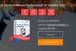 EaseUS Partition Master Professional 12 – 9,95 Euro für kurze Zeit