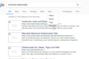 """Google Suche """"Persönlich"""" ist nun eingebaut"""