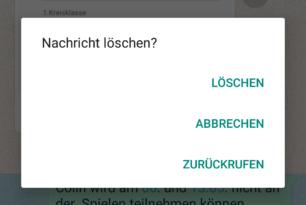 """WhatsApp Beta für Android: """"Zurückrufen"""" von Nachrichten bereits auswählbar"""