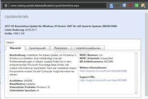 KB4023680 Windows 10 14393.1230 Changelog und Download