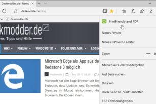 PrintFriendly and PDF als Microsoft Edge Erweiterung