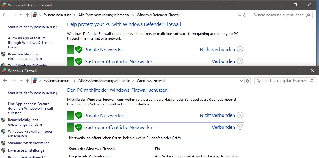 Windows defender firewall der neue name in der herbst for Window defender update