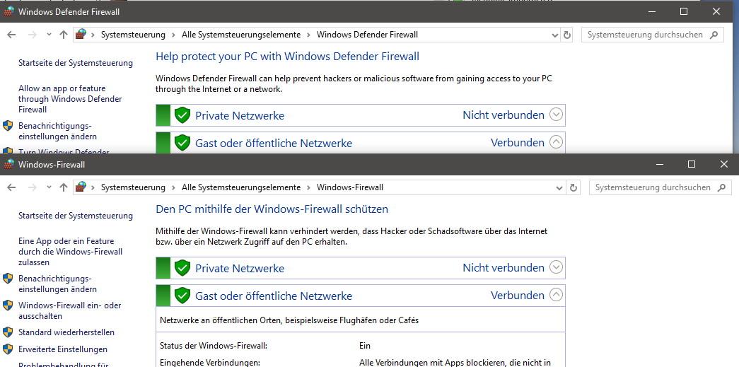 Windows defender firewall der neue name in der herbst for Window defender update