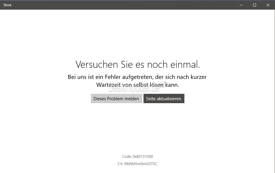 windows store versuchen sie es noch einmal ms server mit problemen. Black Bedroom Furniture Sets. Home Design Ideas