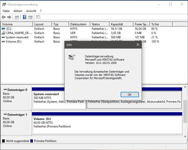 Konzept: Windows 10 Datenträgerverwaltung im Fluent Design ...