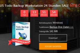 EaseUS Todo Backup Workstation für 14,99 – 60% günstiger