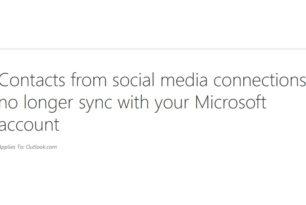 Keine Synchronisation mehr zwischen Microsoft Account und anderen sozialen Diensten