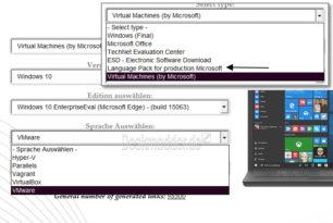 TechBench: Virtuelle Maschinen, Sprachpakete und mehr direkt von Microsoft herunterladen